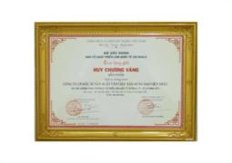 Huy chương vàng triển lãm quốc tế VIETBUILD