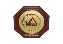 Huy chương vàng chất lượng sản phẩm ngành xây dựng VTOPBUILD